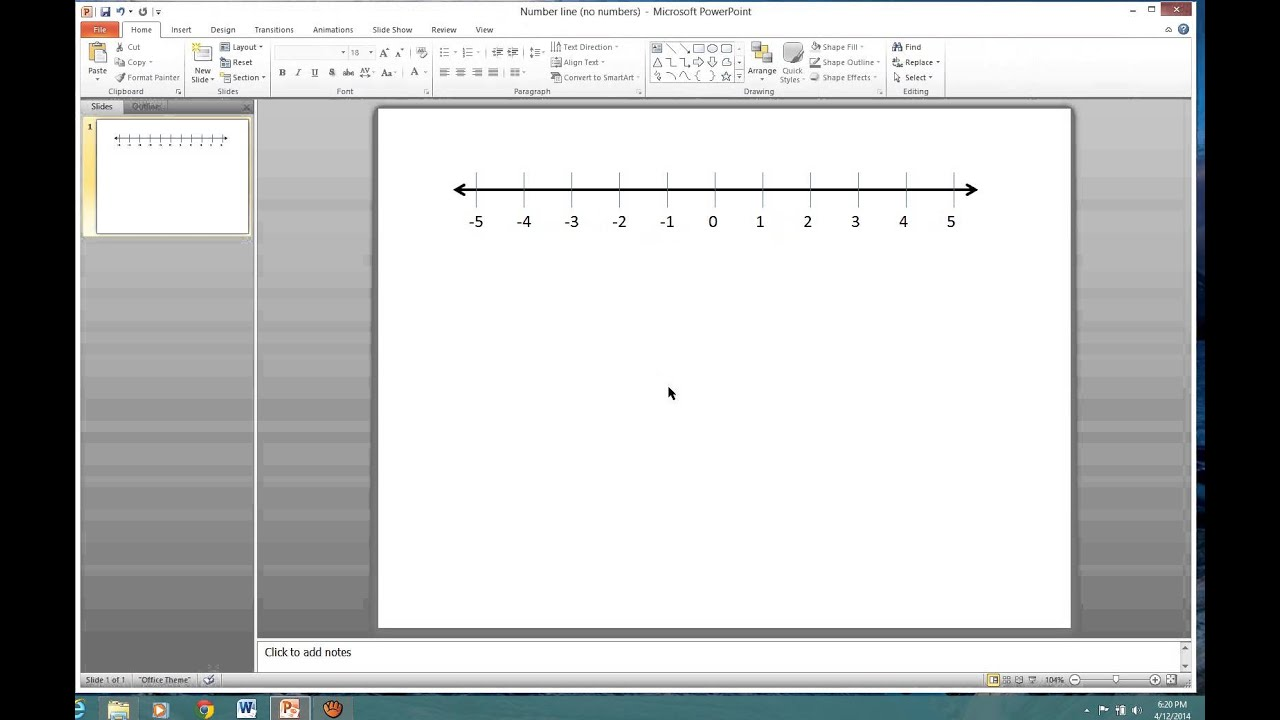 Drawing Lines With Powerpoint : Powerpoint number line video add numbers to