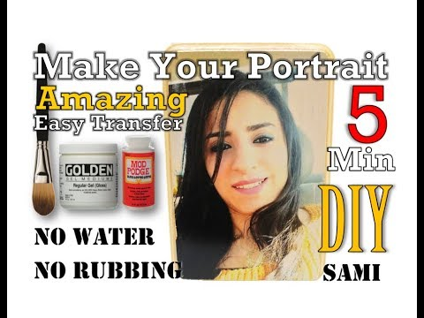Make Your Amazing Portrait with Easy Transfer DIY