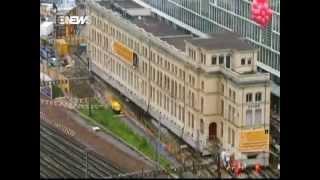 Engenheiros arrastam por 60 metros prédio de antiga fábrica na Suíça - (Engenharia é:)