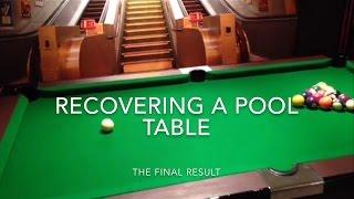Diy Pool Table Recloth - Final Result