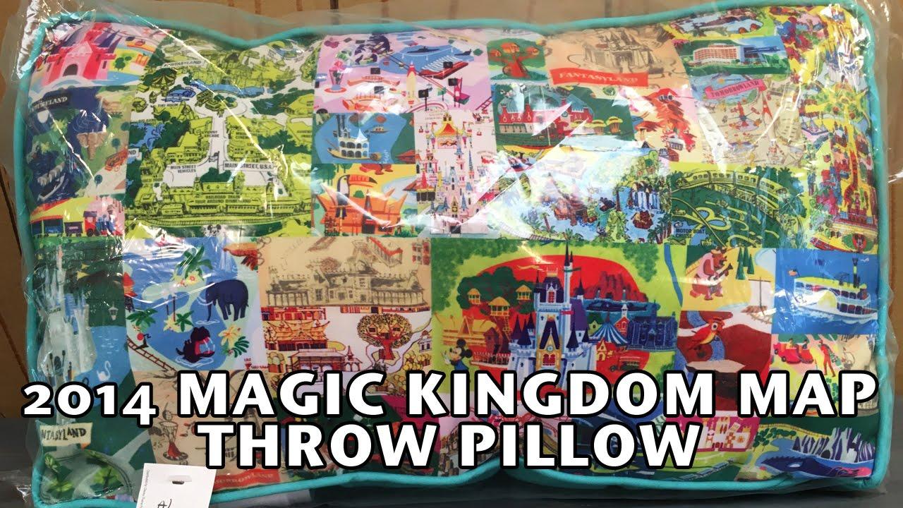 2014 Walt Disney World Magic Kingdom Map Throw Pillow Country Bear Jamboree  Collector Show 54