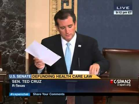 Dick Durbin vs. Ted Cruz on Senate Floor 9/24/2013 - Part 1/2
