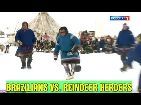 Brazil Visits Siberian Far North And Plays A Friendly Footbal Game In Tundra With Local Tribesmen
