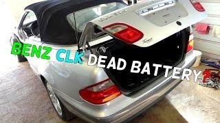 Mercedes W208 CLK How to Open Trunk Dead Battery Jump Start CLK200 ...