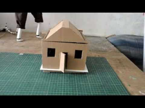 Casita de carton youtube - Como hacer una casa de carton pequena ...
