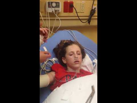 Coming out of anesthesia after broken arm.