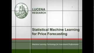 Lucena Webinar: Statistical Machine Learning for Price Forecasting