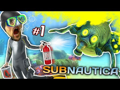 ALIEN OCEAN: Stinky Walrus Shark Ambush! FGTEEV Plays Subnautica #1