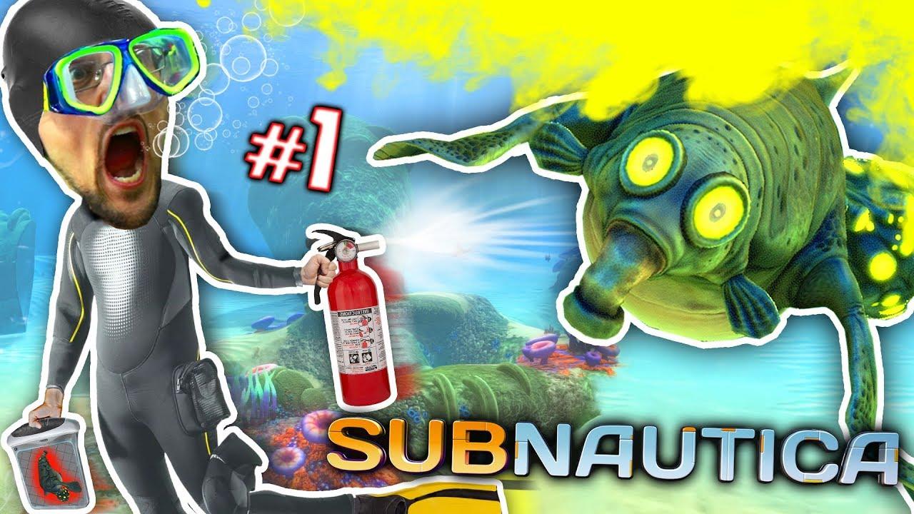Download ALIEN OCEAN: Stinky Walrus Shark Ambush! FGTEEV plays Subnautica #1
