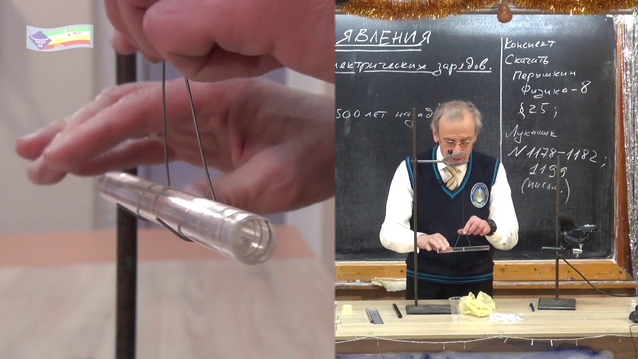 Урок 135 (осн). Электризация тел. 2 рода электрических зарядов. Проводники и диэлектрики
