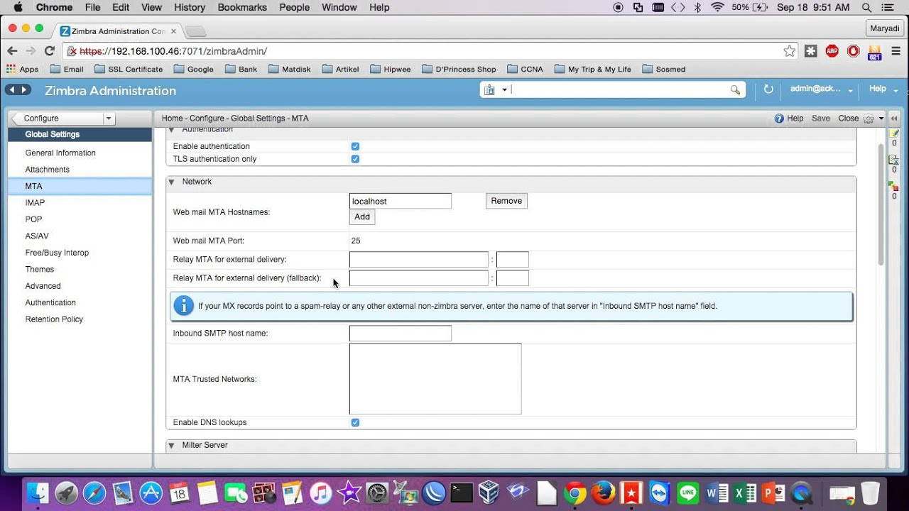 Configuration Size Send Email/Attachment on Zimbra Mail Server