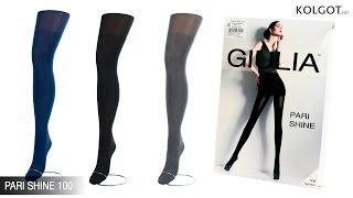Фантазийные колготки с имитацией чулок и эффектом блеска PARI SHINE 100 от TM Giulia