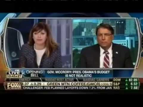 Governor Pat McCrory Discusses North Carolina's Economy on Fox Business with Maria Bartiromo