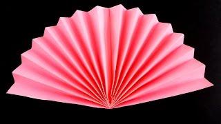 как сделать веер из бумаги своими руками оригами веер видео