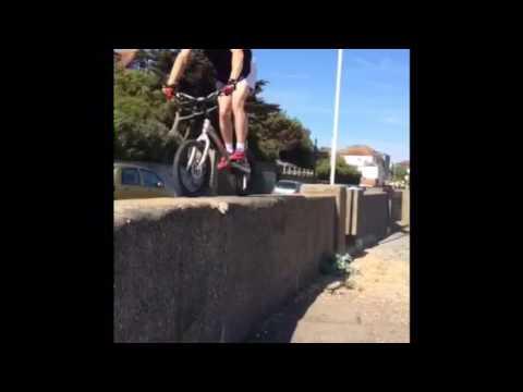 James Sheridan Bike Trials Champion Training in Shepway