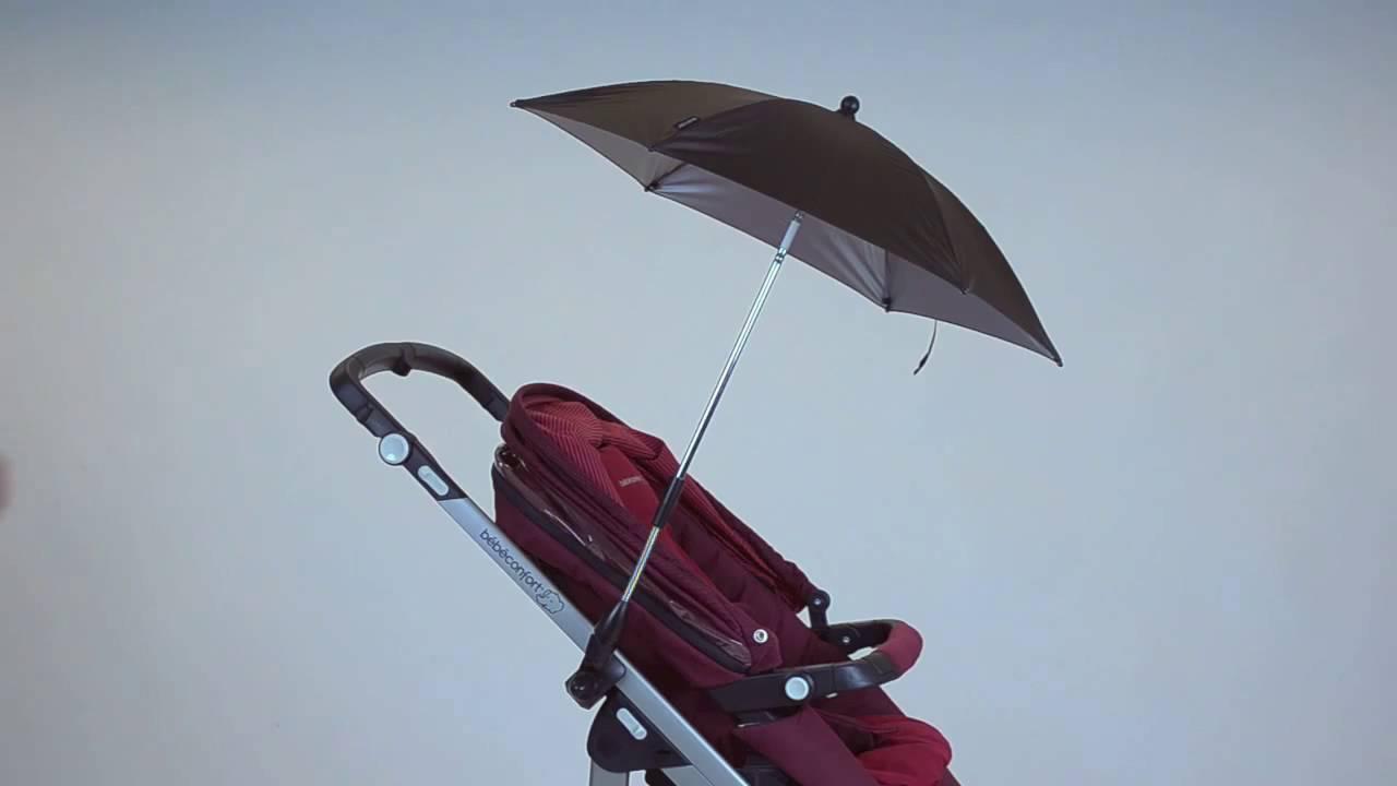 installer un parasol sur la poussette bebe confort youtube