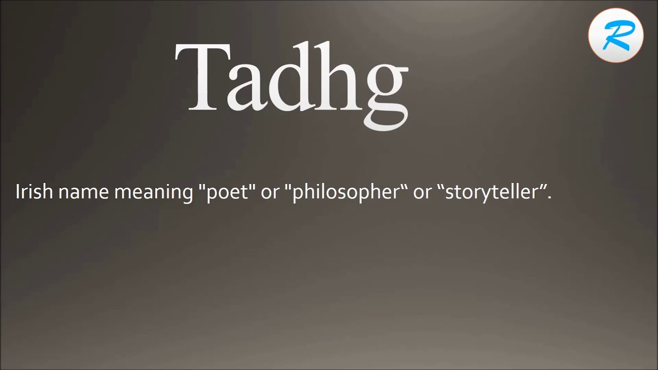 How to pronounce Tadhg