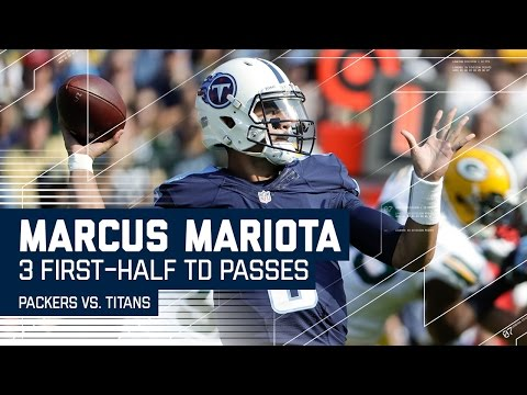 Marcus Mariota Tosses 3 TDs in the First Half! | Packers vs. Titans | NFL