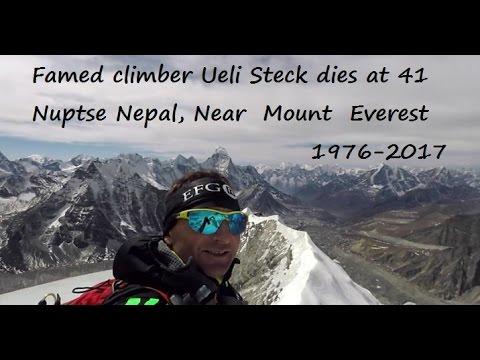 Famed climber Ueli Steck dies at 41, 1976-2017, Nuptse Nepal, Near Mount Everest 30 April 2017