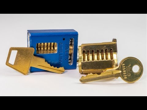 [295] Unboxing an American Lock 1100 and 7 Pin Yale Mortise Cutaway