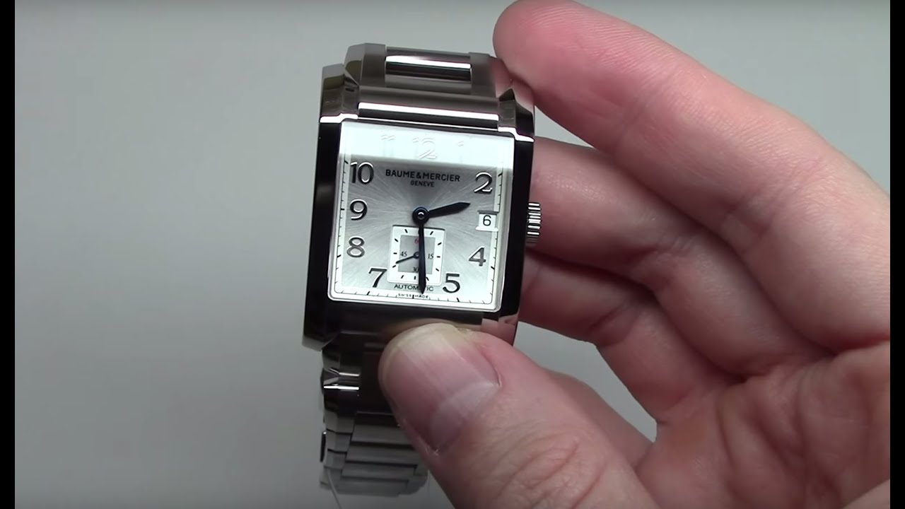 baume and mercier hampton automatic men 39 s watch model 10047 youtube. Black Bedroom Furniture Sets. Home Design Ideas