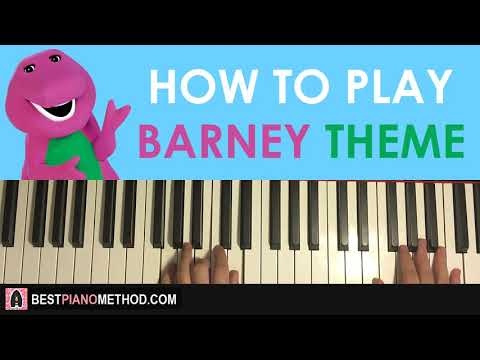 HOW TO PLAY - Barney Theme Song (Piano Tutorial Lesson)