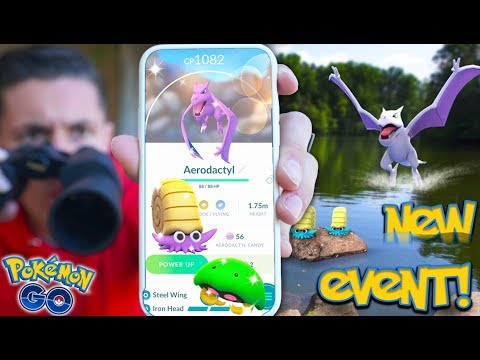 NEW SHINY ADVENTURE WEEK EVENT! Shiny AERODACTYL, KABUTO, OMANYTE & MORE in Pokémon Go!