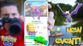 NEW SHINY ADVENTURE WEEK EVENT! Shiny AERODACTYL, KABUTO, OMANYTE & MORE in Pokémon Go!