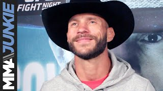 Donald Cerrone talks to media at UFC Vancouver open workouts