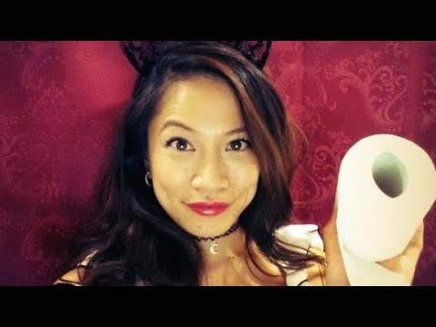 ASMR French Maid Does Your Costume Makeup 👻