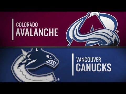 Avalanche vs Canucks   Nov 2,  2018
