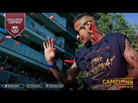 BEHIND THE SCENES: FC Barcelona La Liga Champions Victory Parade 2016