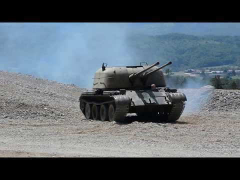 ZSU-57/2 presentation during Tank Weekend
