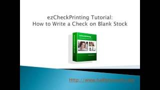 Video How To Write A Check Blank | Tutorial Video Craft