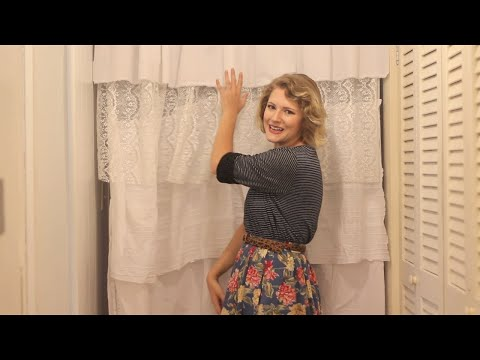DIY ruffle shower curtain tutorial!