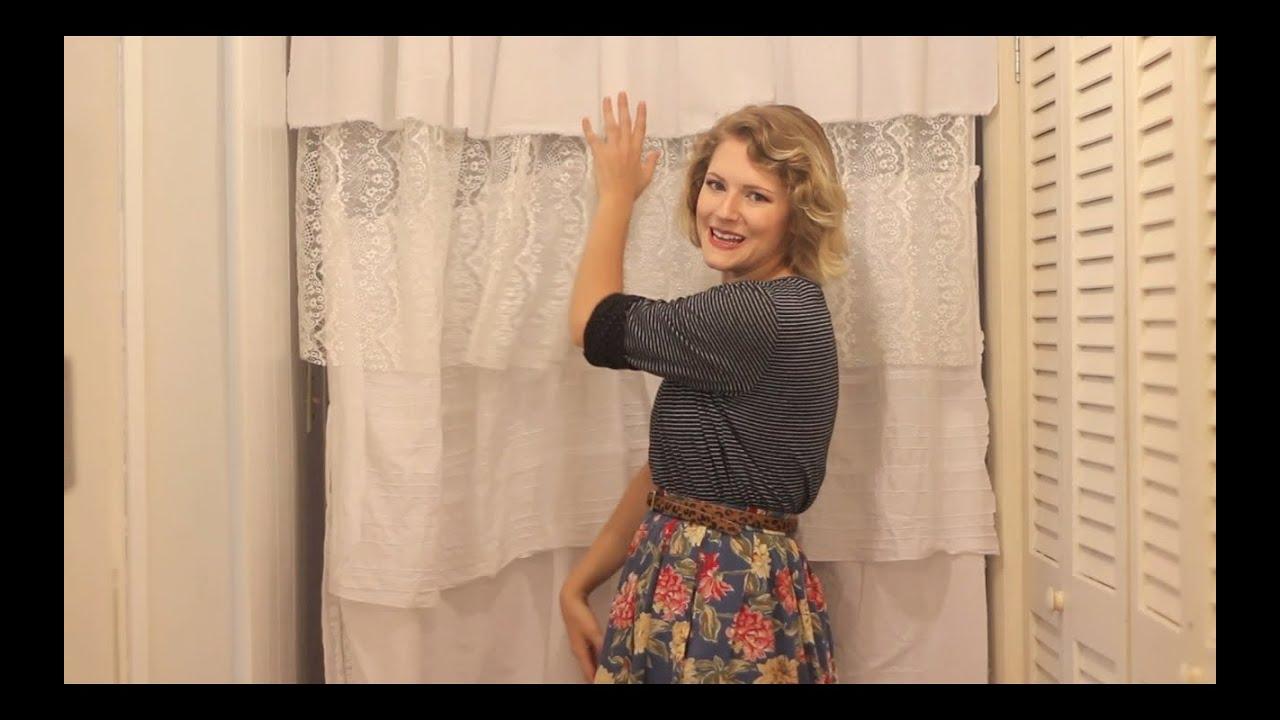 DIY Ruffle Shower Curtain Tutorial