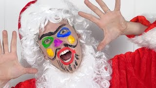 Santa Claus Fun Face Paint Lesson for kids - Popular Songs and Nursery Rhymes for Children