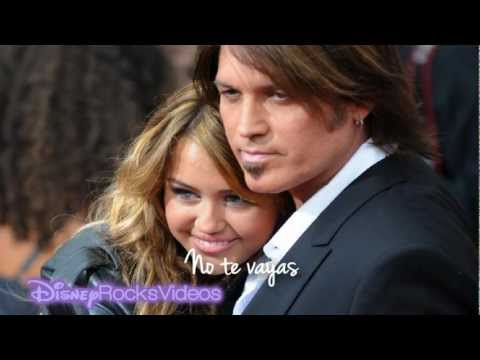 Billy Ray Cyrus ft. Miley Cyrus - Ready Set Don't Go (letra español)