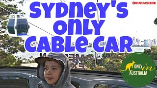 SYDNEY'S ONLY CABLE CAR | TARONGA ZOO SYDNEY CABLE CAR | CABLE CAR AUSTRALIA | AUSTRALIA'S CABLE CAR