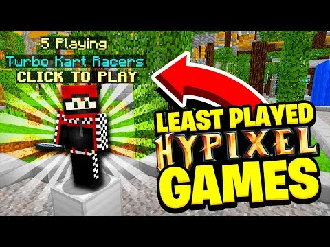 Playing the LEAST POPULAR games on Hypixel...