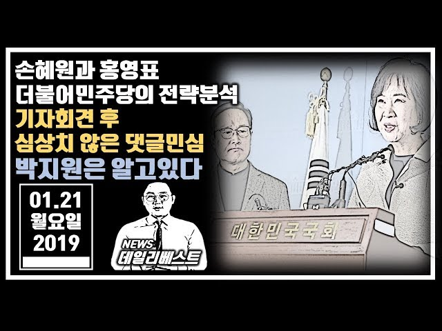 """""""이것도 전략이라고.."""" 손혜원 기자회견 후 심상치 않은 댓글민심 / 박지원은 알고있을 것"""""""