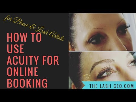How to use Acuity for Microblading & Lash Extension Online Booking