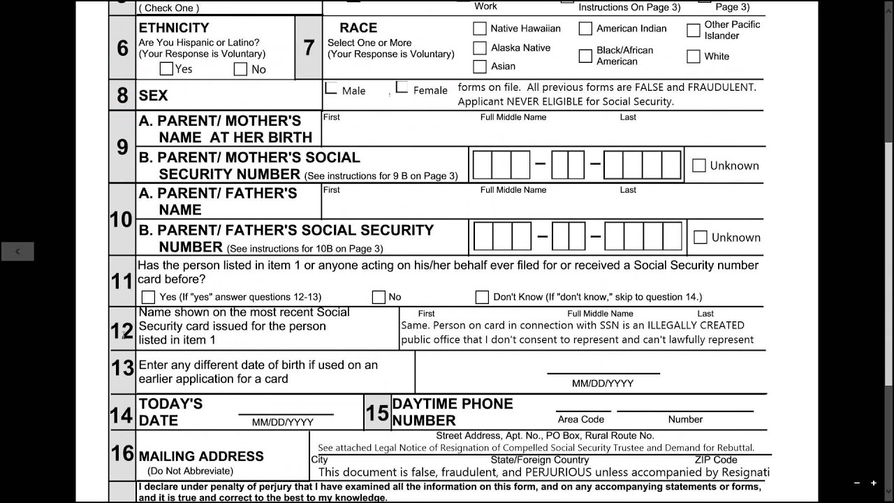2014 06 21 08 34 RESCINDING THE SOCIAL SECURITY CONTRACT YouTube – Social Security Application Form