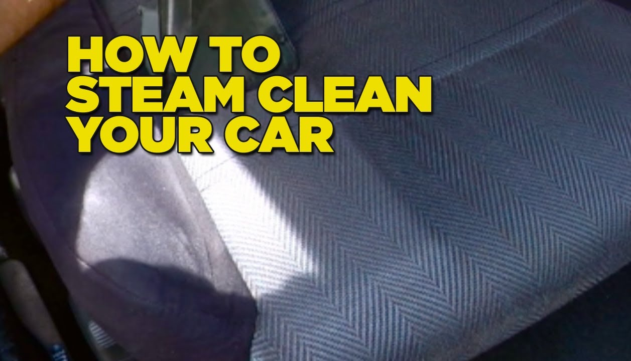 how to steam clean car diy youtube. Black Bedroom Furniture Sets. Home Design Ideas