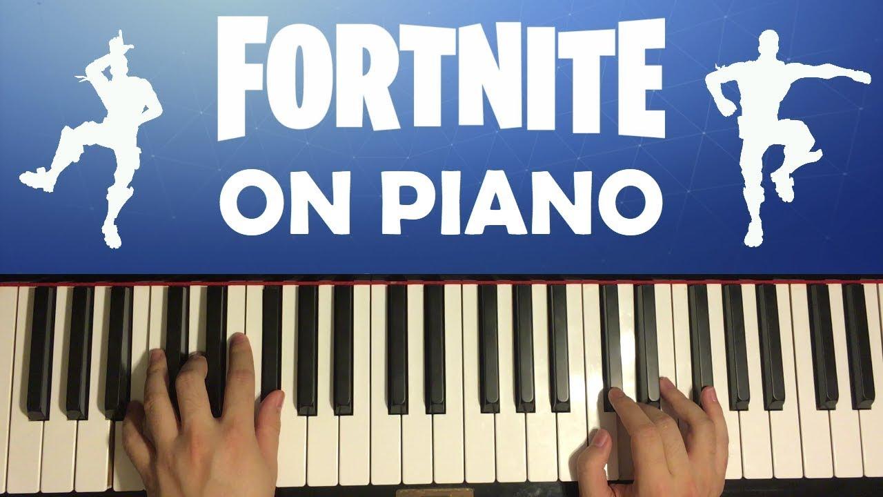 FORTNITE DANCES ON PIANO