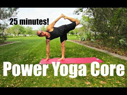 25 min Power Yoga Ab & Core Workout Shred - At Home Exercises #poweryoga