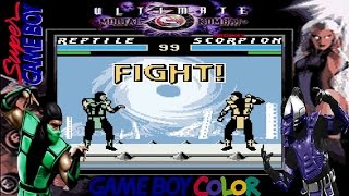 ULTIMATE MORTAL KOMBAT 3 (v0.8.2 / Unlicensed) - GameBoy Color Longplay - All Chars Demonstration