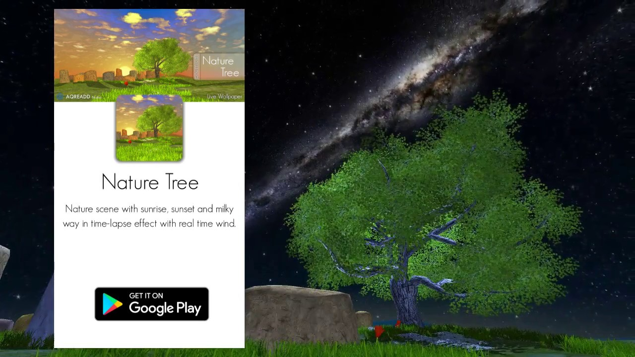 Nature Tree Live Wallpaper For Android