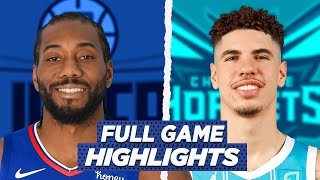LA CLIPPERS vs HORNETS FULL GAME HIGHLIGHTS | 2021 NBA SEASON
