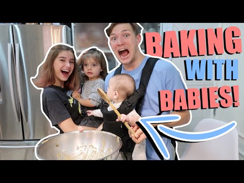 ATTEMPING TO BAKE WITH A 2 YEAR OLD AND A BABY  *FAMILY BAKE OFF* FAIL?!